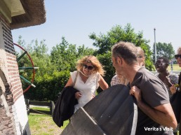 team-outing-by-bike-Leiden-windmill-Veritas-Visit-Holland