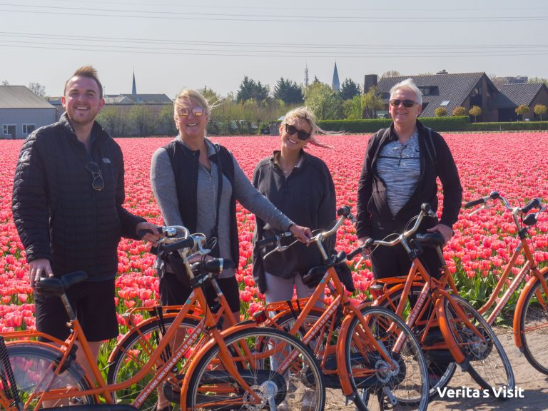 fietstocht Keukenhof naar tulpenkweker Verita's Visit