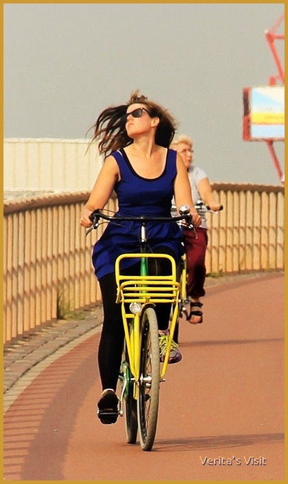 Best way to get to the Firework festival Scheveningen is by bike