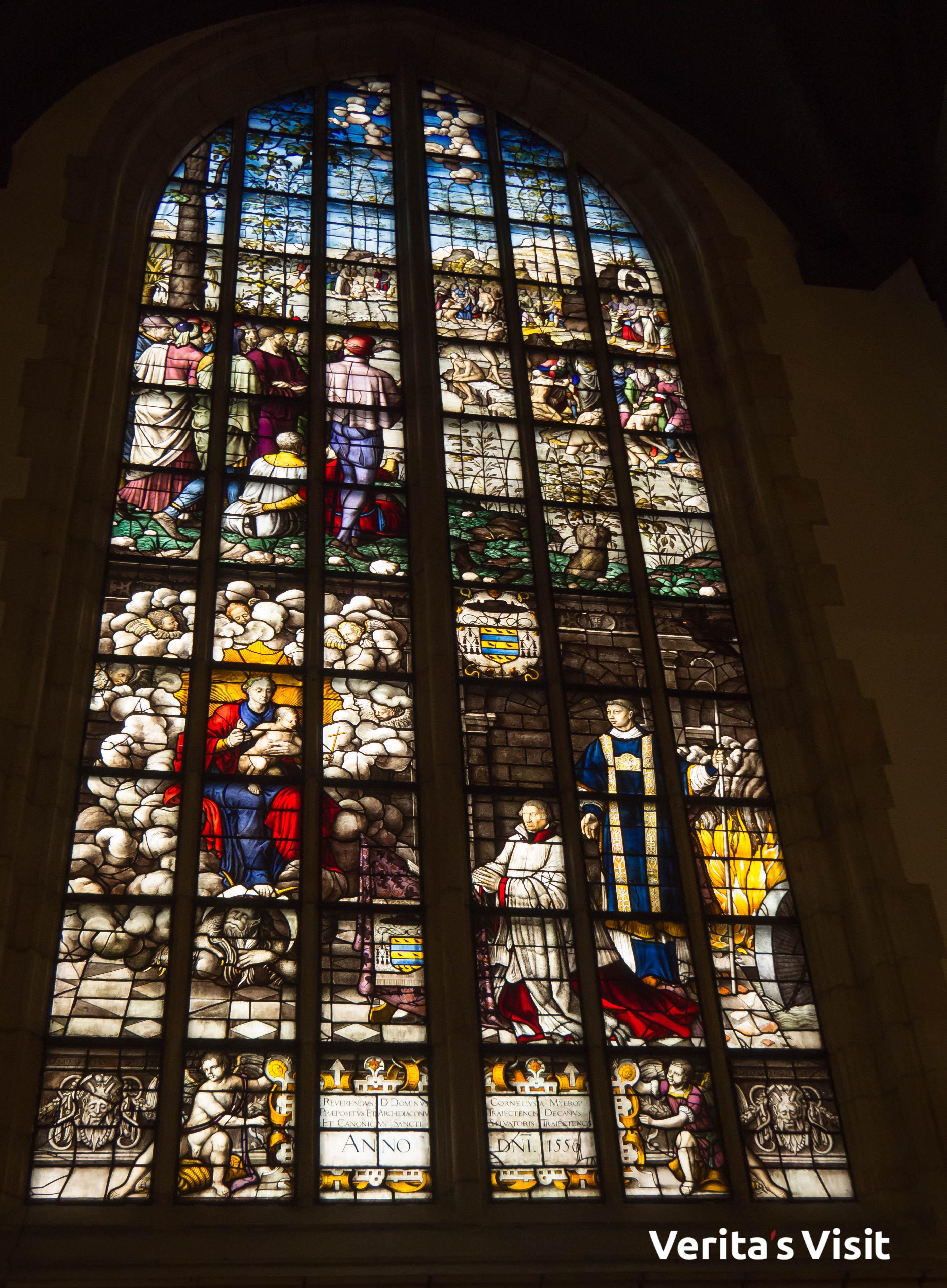 stained glass tour Gouda gebrandschilderde glazen rondleiding Verita's Visit