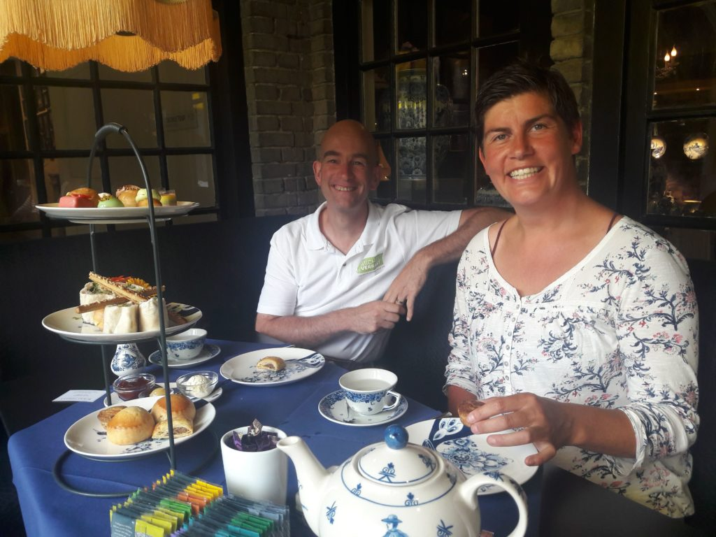 High tea Delft blue Verita's Visit